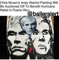 "Chris Brown, eBay, and Memes: Chris Brown's Andy Warhol Painting Will  Be Auctioned Off To Benefit Hurricane  Relief in Puerto Rico Chris Brown's Andy Warhol Painting Will Be Auctioned Off To Benefit Hurricane Relief in Puerto Rico – blogged by @MsJennyb ⠀⠀⠀⠀⠀⠀⠀ ⠀⠀⠀⠀⠀⠀⠀ ChrisBrown's artistry expands far beyond the music industry. He has also created his own lane in the art industry, and now, it appears the singer is using his talent for good. ⠀⠀⠀⠀⠀⠀⠀ ⠀⠀⠀⠀⠀⠀⠀ According to TMZ, Brown has joined forces with famed photographer Karen Bystedt to raise money for hurricane relief efforts in Puerto Rico. Using Bystedt's iconic shot of a young Warhol, Brown created a collage, painting an adult and middle-aged Warhol in a piece called the ""Triple Andy Discount."" ⠀⠀⠀⠀⠀⠀⠀ ⠀⠀⠀⠀⠀⠀⠀ The piece, which was painted back in 2015, is now heading to the auction block to benefit hurricane relief efforts. According to TMZ, the bidding is starting at a whopping $500,000 on eBay."