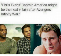 "America, Chris Evans, and Deadpool: ""Chris Evans' Captain America might  be the next villain after Avengers  Infinity War.""  hail Stucky ~Deadpool"