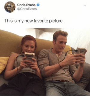 : Chris Evans  @ChrisEvans  This is my new favorite picture.
