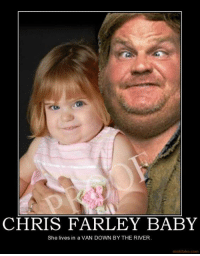 Chris Farley: CHRIS FARLEY BABY  She lives in a VAN DOWN BY THE RIVER.  motifake com