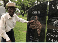 Fam, Memes, and Navy: CHRIS  GC  COUN  FAM  APR. 8, 197-4  FEB. 2, 2013  SON, RR Richard (Oldest Living Veteran) paid his respects to Navy SEAL Chris Kyle at the Texas State Cemetery. It is a monument to all Veterans who have served 🇺🇸