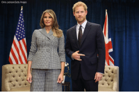 First Lady Melania Trump meets with Prince Harry for the first time as she leads the USA team delegation ahead of the Invictus Games 2017 in Toronto, Canada.: Chris Jackson/Getty Images First Lady Melania Trump meets with Prince Harry for the first time as she leads the USA team delegation ahead of the Invictus Games 2017 in Toronto, Canada.