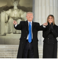 President-elect @realdonaldtrump and Melania Trump arrive at the Make America Great Again! Welcome Celebration. Trump45: Chris Kleponis Pool/Getty Images President-elect @realdonaldtrump and Melania Trump arrive at the Make America Great Again! Welcome Celebration. Trump45