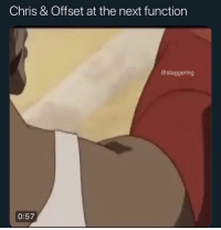 Funny, Nfl, and Trendy: Chris & Offset at the next function  @staggering  0:57 Niggas built like some NFL Street characters @larnite • ➫➫➫ Follow @Staggering for more funny posts daily!