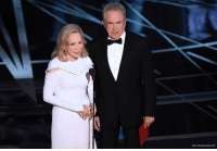Plot twist: There was a surprise ending at the Oscars when FayeDunaway announced the wrong movie won BestPicture. She said LaLaLand won, but Moonlight was the real winner.: (Chris Pizzello/Invision/AP) Plot twist: There was a surprise ending at the Oscars when FayeDunaway announced the wrong movie won BestPicture. She said LaLaLand won, but Moonlight was the real winner.