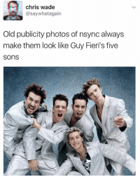 Funny, Old, and Boys: chris wade  asaywhatagain  Old publicity photos of nsync always  make them look like Guy Fieri's five  SOns Smother me boys