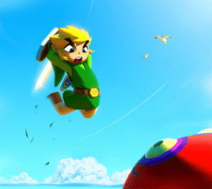 chriskotiesen:  Some fan art of The Wind Waker, one of my favourite video games ever. The composition is a bit of an homage to Phil Hale's 'Johnny Badhair' paintings. I started this a little over a year ago, just after playing through the gorgeous HD remake on the Wii U. Initially I think I was stickingtoo close to the game's distinctive rendering style and I stopped working on it when I didn't like how it was turning out. Came back to it recently, re-evaluated a few artistic decisions, and got it done. : chriskotiesen:  Some fan art of The Wind Waker, one of my favourite video games ever. The composition is a bit of an homage to Phil Hale's 'Johnny Badhair' paintings. I started this a little over a year ago, just after playing through the gorgeous HD remake on the Wii U. Initially I think I was stickingtoo close to the game's distinctive rendering style and I stopped working on it when I didn't like how it was turning out. Came back to it recently, re-evaluated a few artistic decisions, and got it done.