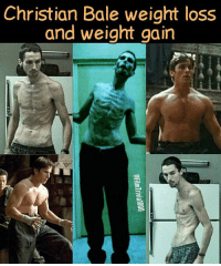 "Anaconda, Apple, and Batman: Christian Bale weight loss  and weight gain On the left is Christian Bale in the 2004 film The Machinist- the film he did before being cast as Batman in Batman Begins. Check out (The Machinist) if you get a chance. It's one of Bale's best performances. He took up smoking to help curb his appetite when he was crash-dieting for The Machinist. He wanted to drop down to 100 pounds, but the director said no out of fear that his health could be in too much jeopardy. Bale drank one cup of black unsweetened coffee, and ate one can of tuna or one apple each day- for 4 months prior to filming. On the DVD featurette, he said he found that his weakened condition caused problems such as having trouble running because he litterally had no leg muscles left. He then started eating both the apple & tuna on days he would be shooting a phyhical scene. His 63-pound weight loss is one of the most drastic for any actor-actress in film history. Director (Brad Anderson) had planned on using some CGI to thin Bale out and was shocked & impressed when he saw Bale's appearance on the first day of shooting knowing he wouldn't need CGI. After Bale was cast as Bruce Wayne-Batman, he was told to get as big as possible. Bale underwent a 6 month dietary and exercise regimen and ended up weighing about 220 pounds- 40 pounds above his normal weight, and 100 pounds from what he weighed in The Machinist. It was decided that Bale had become too large. Friends of his and some of the film crew dubbed him ""Fatman"". He quickly shed about 20 pounds to have a leaner, more muscular frame. Bale described the experience as an unbearable physical ordeal ☆ BatmanBegins ChristianBale ChristopherNolan ChrisNolan Nolanverse TheBatman BruceWayne GothamCity TheMachinist BradAnderson TrevorReznik TheDarkKnight DarkKnight TheDarkKnightRises DarkKnightRises TDK TDKR DcMovies DcFilms DcMovie DcFilm DcComics DcMultiverse DcComicsFan CapedCrusader TheCapedCrusader DcFans DcComicsUniverse DcComicsUnited DcUniverse"