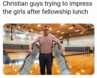 Girls, Instagram, and Memes: Christian guys trying to impress  the girls after fellowship lunch @coupleshabit is the 1 quotes page on instagram!💕💄🌈