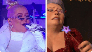 Christina Aguilera is the fairy godmother from shrek 2: Christina Aguilera is the fairy godmother from shrek 2