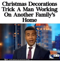 →DM & TAG this to 15 friends for a shoutout😂: Christmas Decorations  Trick A Man Working  On Another Family's  Home  6:18 52  色400  14 MIN SB FROM OLD MILTON PKY TO 1.285 →DM & TAG this to 15 friends for a shoutout😂