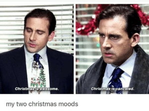 Canceled: Christmas is awesome.  Christmas is canceled.  my two christmas moods