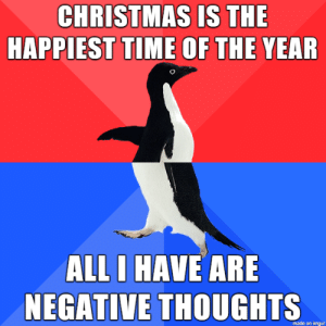Merry Chrysler: CHRISTMAS IS THE  HAPPIEST TIME OF THE YEAR  ALL I HAVE ARE  NEGATIVE THOUGHTS  made on imngur Merry Chrysler