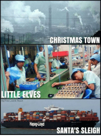 Christmas, Kids, and Lions: CHRISTMAS TOWN  LITTLE ELVES  FB/THE LION'S ROAR  Hapag-Loyd  SANTA'S SLEIGH Don't show the kids