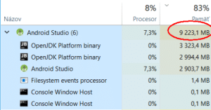 Chrome is nothing. Presenting Android Studio, the true master of RAM.: Chrome is nothing. Presenting Android Studio, the true master of RAM.