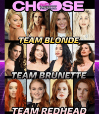 WHICH GROUP WOULD YOU PREFER?? . . 💛TEAM BLONDE: MargotRobbie EmilyBettRickards MelissaBenoist EmiliaClarke . . 🖤TEAM BRUNETTE: GalGadot DaisyRidley CandicePatton HayleyAtwell . . ❤️TEAM REDHEAD: AmberHeard SophieTurner MaggieGeha ScarlettJohansson . . CHOOSE WISELY!! . . blonde brunette redhead harleyquinn batman joker arrow flash gameofthrones wonderwoman agentcarter starwars mera justiceleague blackwidow sansastark cosplay nerds: CHSE  TEAM BLONDE  A TEAM BRUNET  TEAM REDHEAD WHICH GROUP WOULD YOU PREFER?? . . 💛TEAM BLONDE: MargotRobbie EmilyBettRickards MelissaBenoist EmiliaClarke . . 🖤TEAM BRUNETTE: GalGadot DaisyRidley CandicePatton HayleyAtwell . . ❤️TEAM REDHEAD: AmberHeard SophieTurner MaggieGeha ScarlettJohansson . . CHOOSE WISELY!! . . blonde brunette redhead harleyquinn batman joker arrow flash gameofthrones wonderwoman agentcarter starwars mera justiceleague blackwidow sansastark cosplay nerds