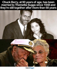 True love never expires 🙏❤: Chuck Berry, at 90 years of age, has been  married to Themetta Suggs since 1948 and  they're still together after more than 68years  ExploreTalent True love never expires 🙏❤