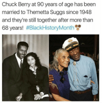 Black love is real 🌹 17thsoulja BlackIG17th chuckberry themettasuggs blackloveisbeautiful: Chuck Berry at 90 years of age has been  married to Themetta Suggs since 1948  and they're still together after more than  68 years!  Black love is real 🌹 17thsoulja BlackIG17th chuckberry themettasuggs blackloveisbeautiful