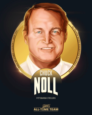 Chuck Noll is one of the 10 coaches selected to the #NFL100 All-Time Team!  🏈 Head coach of the @Steelers for 23 seasons (1969-91) 🏈 4 Super Bowl titles 🏈 193 career wins https://t.co/kNDV8euSgu: CHUCK  NOLL  PITTSBURGH STEELERS  ALL-TIΜΕ ΤEAΜ  HALL OF FAME COACH 1969-1991  4x SUPER BOWL CHAMPION AS HEAD COACH Chuck Noll is one of the 10 coaches selected to the #NFL100 All-Time Team!  🏈 Head coach of the @Steelers for 23 seasons (1969-91) 🏈 4 Super Bowl titles 🏈 193 career wins https://t.co/kNDV8euSgu