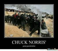 Meme Center: CHUCK NORRIS  great grandmother  Munetenler  memecenter com