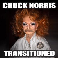 Chuck Norris Is Trans?: CHUCK NORRIS  TRANSITIONED  made on  imgur Chuck Norris Is Trans?