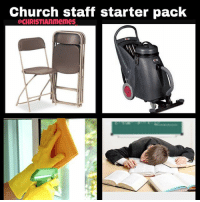 @memesofchurch Made a similar one, but I decided to make my own. Thanks to all the church staff! I know it gets tiring lol: Church staff starter pack @memesofchurch Made a similar one, but I decided to make my own. Thanks to all the church staff! I know it gets tiring lol