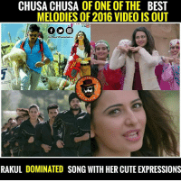 Rakul😍😍😍😍 Video song out ♣g@mbler♠: CHUSACHUSA OF ONE OF THE BEST  MELODIES OF 2016 VIDEO IS OUT  Dis Page entertain u  A  PAG  RTA  RAKUL DOMINATED SONG WITH HER CUTE EXPRESSIONS Rakul😍😍😍😍 Video song out ♣g@mbler♠