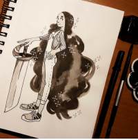 chusska-art:  6th of Inktober. Today I tried drawing older Connie!: chusska-art:  6th of Inktober. Today I tried drawing older Connie!