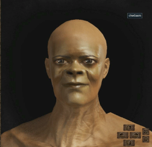 Samuel L. Jackson, Shrek, and Dark Souls: chwGasm I accidentally made Samuel L. Jackson in Dark Souls 3 when trying to make Shrek.