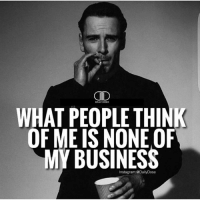 Cid, Thinking, and Think of Me: CID  DAILY DOSH  WHAT PEOPLE THINK  OF ME IS NONE OF  MY BUSINESS This.