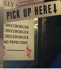 "Tumblr, Pepsi, and Blog: CILEBRAriNG IUI  1934-0  CREE110RGER! CREEZBORGERİ CREEZBORGER!  PICK UP HERE  CHEEZBORGER  CHEEZBORGER  CHEEZBORGER  NO PEPSI COKE <p><a href=""https://ryoubakvra.tumblr.com/post/174447240946/cheezborger-cheezborger-cheezborger-no-pepsi"" class=""tumblr_blog"">ryoubakvra</a>:</p><blockquote><p>CHEEZBORGER <br/> CHEEZBORGER <br/> CHEEZBORGER<br/> NO PEPSI COKE</p></blockquote>"