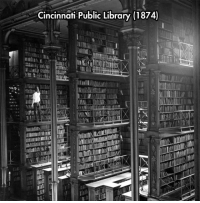 <p>Magnificent Library.</p>: Cincinnati Public Library (1874) <p>Magnificent Library.</p>