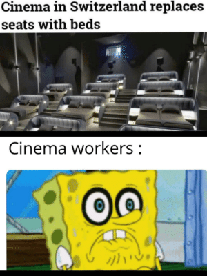 I don't like where this is going: Cinema in Switzerland replaces  seats with beds  Cinema workers: I don't like where this is going