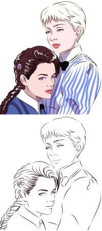 Target, Tumblr, and Blog: cinemairon: Nyo!PruAus (Madchen in uniform) Inspired by the movie of 1958 with (Austrian actress) Romy Schneider and (Prussian actress) Lilli Palmer.