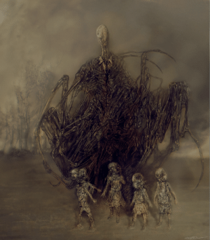 cinemamind:  The Slender Man in the style of a Zdzisław Beksiński painting.: cinemamind:  The Slender Man in the style of a Zdzisław Beksiński painting.