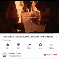 Lil Kim, Memes, and 🤖: CINEMATOGRAPHY BY  PAWEL P  RZELSKI  The Strange Thing About the Johnsons HD Full Movie  719K views  6K.  2K  Share  Add to  Save  Declan Olsen  SUBSCRIBE  1K subscribers Yo @lola.tha.lil.kim.of.erotica you gotta watch this joint.. just finished watching this and wtf everybody is talking bout it.. thanks to my new boo @djxclusive47 for putting me in .. 💋 IFBU WATCHED IT LETS DISCUSS IT IN THE COMMENTS