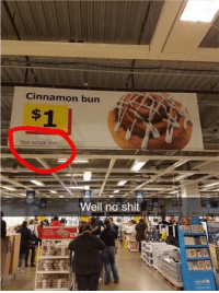 Shit, Unicef, and Cinnamon: Cinnamon bun  Not actual size  Well no shit  unicef oh hoh oh