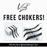 CIothng  FREE CHOKERS!  Click the link in @viralclothingco's bio! FREE Chokers! That's right! @viralclothingco is giving away chokers to everybody, just pay shipping! Click the link in @viralclothingco's bio! You won't find a deal like this anywhere else! Tag 2 friends who need these!
