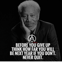 Memes, 🤖, and Next: CIRCLE  AMBITION  BEFORE YOU GIVE UP  THINK HOW FAR YOU WILL  BE NEXT YEARIF YOU DON'T  NEVER QUIT Don't ever quit! Think about where you'll be a year from now... - DOUBLE TAP IF YOU AGREE!