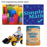 Civil Engineering Memes for Statically Indeterminate Teens what up? Thanks Daniel Moult for the meme :) -j: Civil engineering starter pack  2  1  Simple  M)  PORTLAND  CEMENT  txi  TYPED  EIII  ミ. TYPE  GRAY Civil Engineering Memes for Statically Indeterminate Teens what up? Thanks Daniel Moult for the meme :) -j