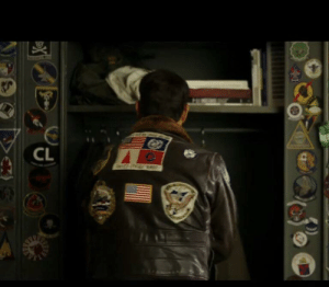 Tom Cruise, Cruise, and Japanese: CL In the original Top Gun, Tom Cruise's Maverick has a patch with the US, UN, Japanese and Taiwanese flags on the back of his jacket. In the trailer for the new sequel, the Japanese and Taiwanese flags have been replaced on an otherwise identical jacket to obtain CPC approval (Tencent is a producer).