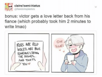 who to write a love letter