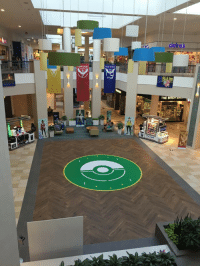 <p>This mall is a Pokemon Gym so it turned its lobby into a Pokemon Arena</p>: claires  THE <p>This mall is a Pokemon Gym so it turned its lobby into a Pokemon Arena</p>