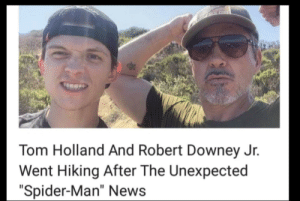"Is this wholesome: CLALGHT  Tom Holland And Robert Downey Jr.  Went Hiking After The Unexpected  ""Spider-Man"" News Is this wholesome"
