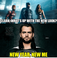 Ah, so that's why he looks like that...: CLARK WHATS UP WITH THE NEWLooka  COMIC  ROOK  THINGS  GOXI  NEW YEARNEW ME Ah, so that's why he looks like that...