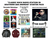 """A Dream, Music, and Petty: """"CLASSIC ROCK RADIO STATION IN  SOUTHERN SAN ANDREAS"""" STARTER PACK  All your favorites  Radio DJ that idolizes himself  everyday  TOM PETTY  V DOWN A DREAM Where all your buddies  from the 70's are at  HEART  DOL  acuda  REHABILITATION CENTER  White Wedding  Cry To Me  BOSTON  THE DUST  How to Admit Someone to Rehab  For when the police can't catch you.  SaveYour Loving For Me  REAL ROCK  NOT REAL ROCK  RAPP MORE LIKE C  CRAP  04:29  $근근  G马ヨ銮1  POLICE  MUSIC WASBEITTER WHEN  JOHN LENNONWAS BEATING"""