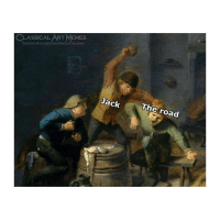 Facebook, Memes, and facebook.com: CLASSICAL ART MEMES  facebook.com/elassicalartmemes  Jack  The road Hit the road Jack