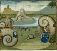 Facebook, Fuck You, and Shit: CLASSICAL ART VMEMES  facebook.com/classicalartimemes  My shell is the  best in the village!  FUck YOU Petunia  your Shell ain't shit