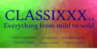 Like to shop online? https://t.co/DMnJlGWhLz Have your purchase discreetly shipped to you or pick it up in-store. #AdultStore #Ottawa https://t.co/GyzfaprNgO: CLASSIXXX  Everything from mild to wild  ca  2208 St. Joseph Blvd.  1724 Bank St.  2130 Robertson Rd  Ottawa, Canada  Ottawa, Canada  Ottawa, Canada Like to shop online? https://t.co/DMnJlGWhLz Have your purchase discreetly shipped to you or pick it up in-store. #AdultStore #Ottawa https://t.co/GyzfaprNgO