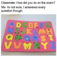 "Tumblr, Blog, and Http: Classmate: How did you do on the exam?  Me: Im not sure, I answered every  question though. <p><a href=""http://awesomesthesia.tumblr.com/post/174495763721/not-the-sharpest-tool-in-the-toolbox"" class=""tumblr_blog"">awesomesthesia</a>:</p>  <blockquote><p>Not the sharpest tool in the toolbox</p></blockquote>"